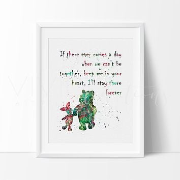 Winnie the Pooh Quote 2 Watercolor Art Print