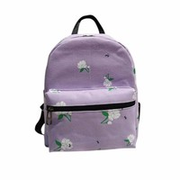 Women Backpack  High Quality Canvas School Bag Rose School Backpacks Shoulder Bags For Teenagers Girls Backpack