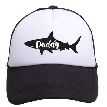 Daddy Shark Trucker Hat (Adult) by Tiny Trucker Co.