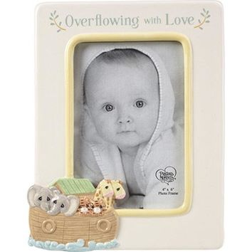 """Overflowing With Love"" Noah's Ark Ceramic Photo Frame"