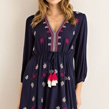 Francisco Embroidered Shift Dress