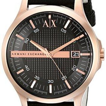 Armani Exchange Men's AX2129 Black  Leather Watch