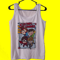 5 Second Of Summer The Avengers Cartoon tank top womens and mens,unisex adults standard fit cut and double stiched on neck and shoulders