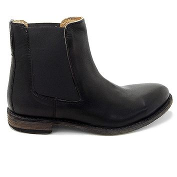 Thom Brown Sloan - Antique Black Leather Dual-Gore Pull-On Boot