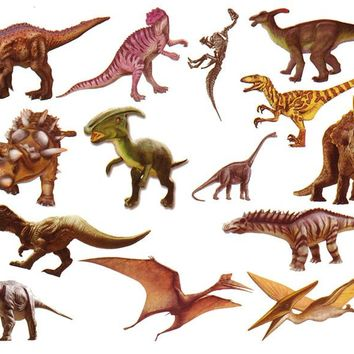 Waterproof Temporary Fake Tattoo Stickers Cute Dinosaur Animals Unique Design Kids Child Body Art Make Up Tools