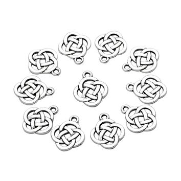 20 Pieces Celtic Shield Knot Charms Reversible Findings Jewelry Pendants Necklaces Making 15 X 18mm