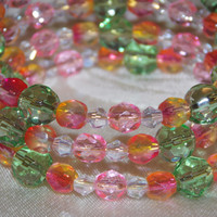 Green and Pink Wrap Bracelet