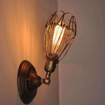 Antique Vintage Adjustable Wall Lights Fixture for Bedroom Loft Retro Iron E27 Lamp Holder Hallway for Indoor Decorate