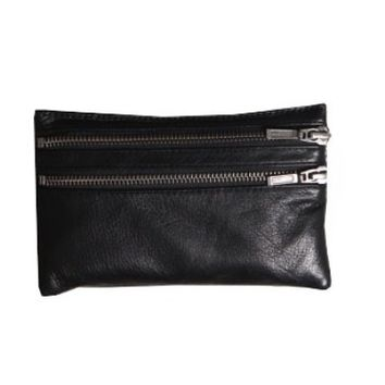 Leather Duo Zipper Wallet