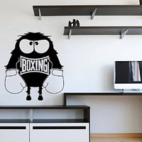 Ik1370 Wall Decal Sticker Kick Boxing Ring Gloves Tournament Living Room Gym