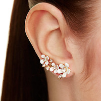 pretty petals ear pin