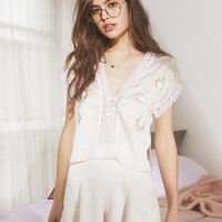 UO Love Story Embroidered Short | Urban Outfitters