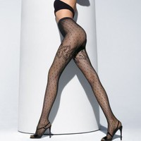 Buy Wolford luxury lingerie - Wolford Spring Leaf Tights  | Journelle Fine Lingerie