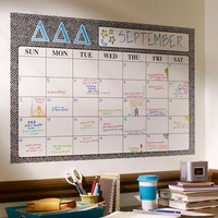 Greek Dry-Erase Monthly Calendar Decal