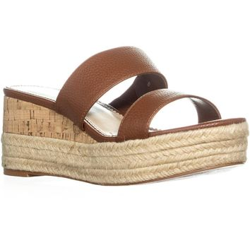 Callisto Foundation Wedge Espadrille Sandals, Brown Pebble, 8 US