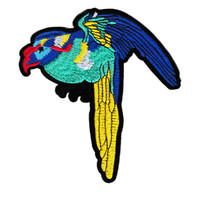 XL Extra Large 14cm Beautiful Tropical Bird Parrot Patch Applique