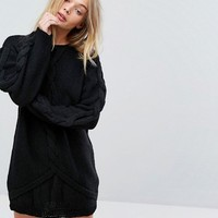 OneOn Hand Knitted Oversized Cable Dress at asos.com