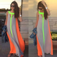New Womens Boho Sexy Celeb Summer Beach Evening Long Maxi Sundress Dress