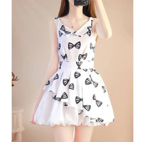 New 2016 Summer women's Lolita Dress Sweet Puff Small Fresh Summer Chiffon Arts Style Dress Elegant Female Mori Gril Dress Z046