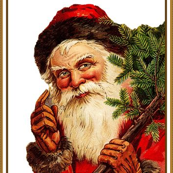 Father Christmas Santa Claus 97 Holiday Counted Cross Stitch or Counted Needlepoint Pattern