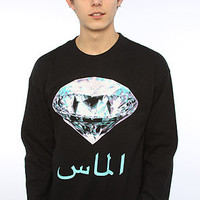 Diamond Supply Co. The My Country Crew Sweatshirt in Black