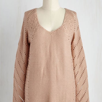 Mid-length Long Sleeve Rustic Reality Sweater