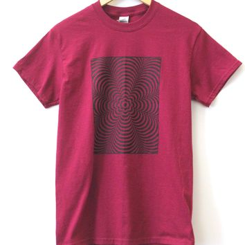 Hypnotic Spiral Flower Graphic Unisex Tee