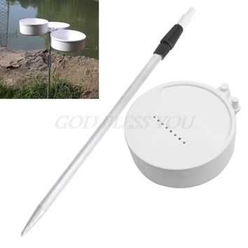 White Round Dual Plastic Fishing Bait Lure Box Case Container With Support Post