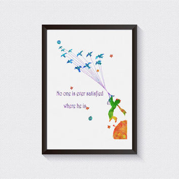 Inspirational wall art Petit Prince Fox Quote baby shower gift Little prince Giclee Print Wall Decor prince room decor baby room {53}