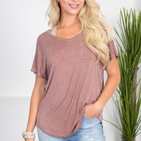 Basic Slouchy Pocket Top | Colors