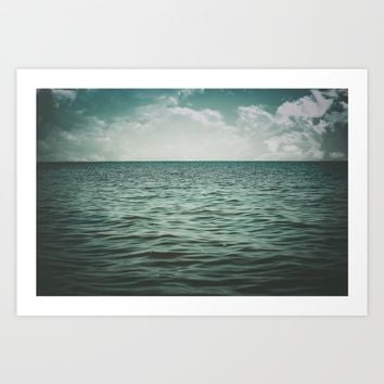 Into The Sea Of Lost Souls  Art Print by Faded  Photos