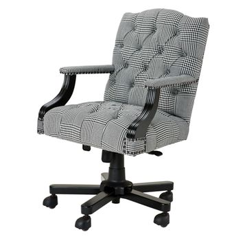 Eichholtz Burchell Desk Chair - B&W