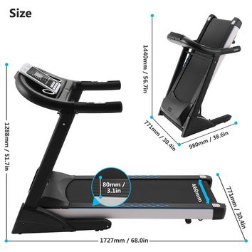 Fitness Folding Electric Treadmill Exercise Equipment Walking Running Machine Gym Home