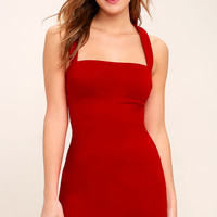 Play Time Red Bodycon Dress