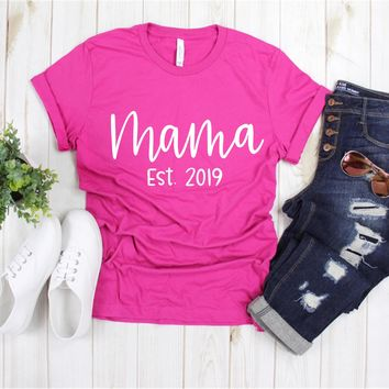 Mama Est. 2019 - Ruffles with Love - Tee