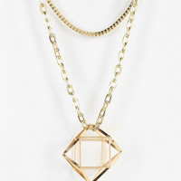 Urban Outfitters - 3D Geo Pendant Necklace