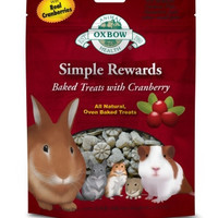 Oxbow Simple Rewards Baked Cranberry Small Pet Treat 2oz