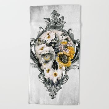 Skull Still Life Beach Towel by RIZA PEKER