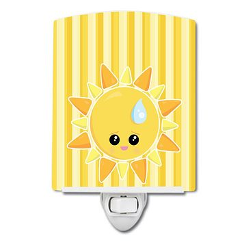 Weather Sun Sprinkle Face Ceramic Night Light BB7150CNL