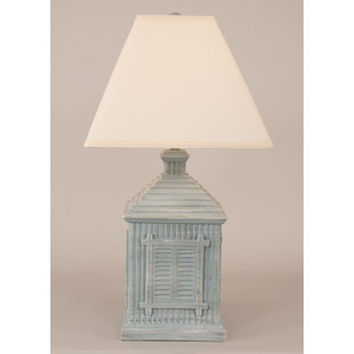 Coast Lamps Distressed Sisal Square Shutter House Lamp