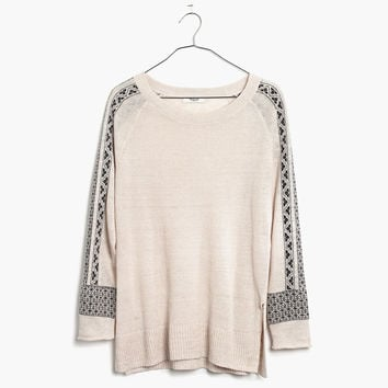 Embroidered Geometry Sweater