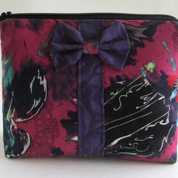 Maleficent Makeup Bag / Disney Villains Cosmetics Pouch / Evil Queen / Cruella De Vil Make Up / Cosmetic Clutch