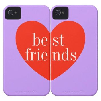a iPhone 4 Purple Best Friends Matching Cases from Zazzle.com