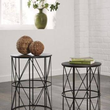 T506-211 Marxim Nesting End Tables (2/Cn) Dark Bronze Finish Free Shipping!
