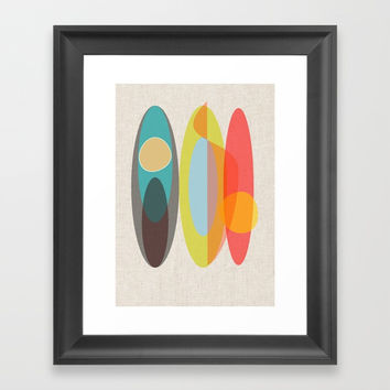 Surf Framed Art Print by mirimo