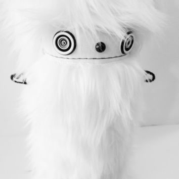 X-LARGE Black and White Kawaii Plushie Modern Cute Art Doll Soft Sculpture - Ooak polkadottydoll BAMBi - FREE Shipping (Canada & US)