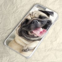 Smile Pug Dog iPhone 6 Plus Case