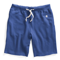 Cut Off Gym Shorts in Washed Royal Blue