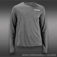Babolat Mens Tennis long sleeve, Babolat Tennis Logo Poly Long Sleeve Shirt 9110