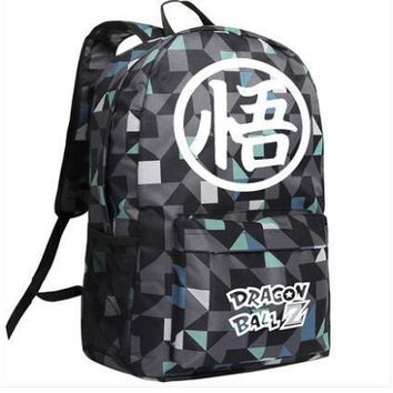 New Dragon Ball Z Backpack Cosplay Son Goku Anime Cartoon Bag Anime Oxford Schoolbag